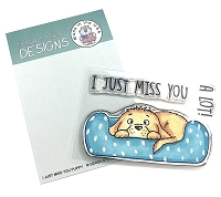 I Just Miss You Puppy 3x4 Clear Stamp Set